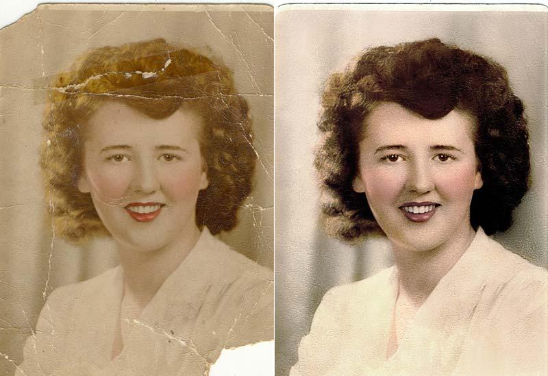 Photo restoration in photoshop