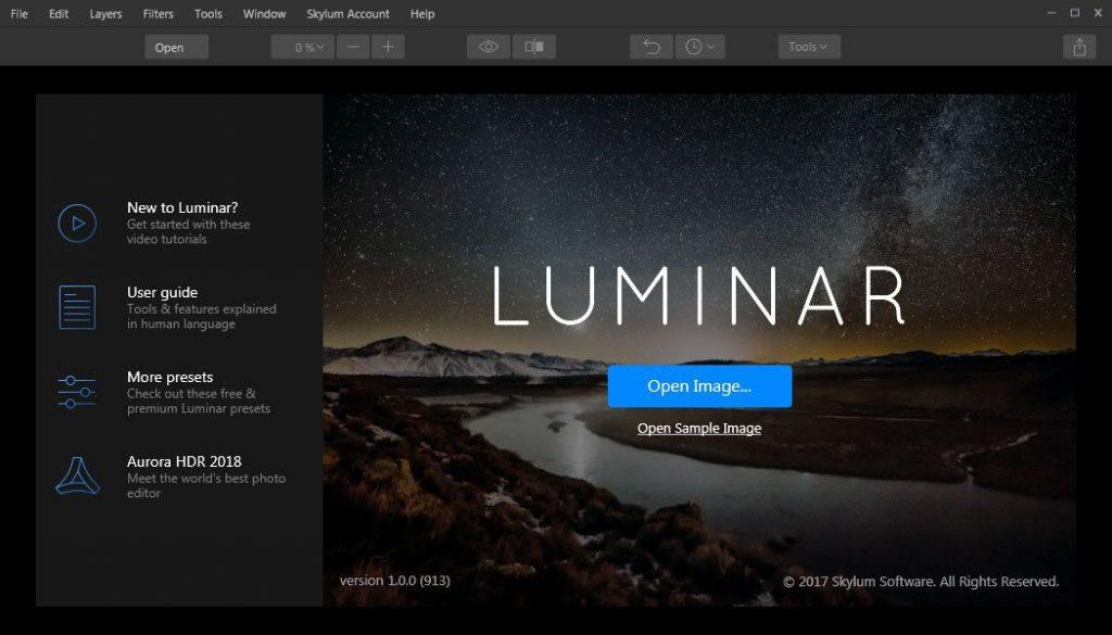 Skylum Luminar photo retouching software