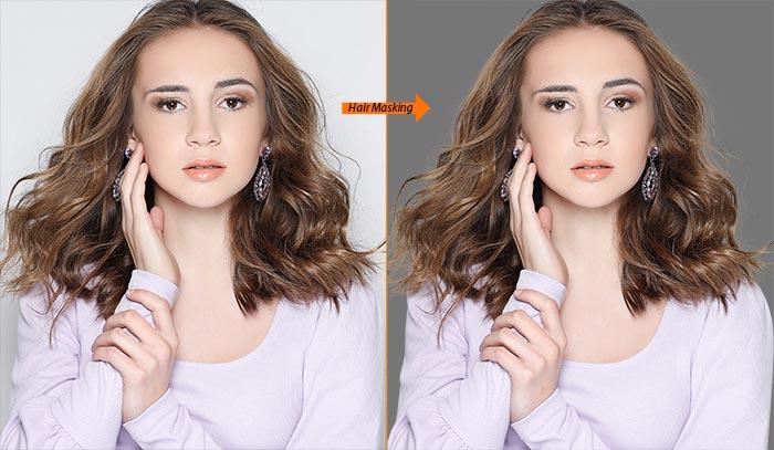 cut out hair Photoshop
